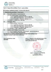 GMP Certificate 2015 (veterinary medicinal products) CZ_ENG_Page_2